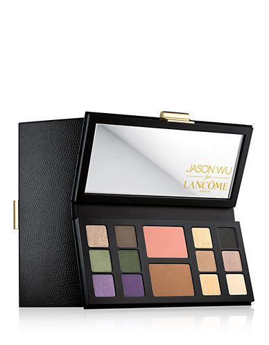 """For the past nine years, designer Jason Wu's runway love affair with vibrant, look-at-me shades of eye shadow—royal purple, molten gold, jungle green—has been a constant reminder that bright and bold makeup can look chic. """"I'm a firm believer that beauty and fashion go hand in hand,"""" says Wu, who packs his 12 favorite shadows (plus bronzer and blush) into <a target=""""_blank"""" href=""""http://www.lordandtaylor.com/webapp/wcs/stores/servlet/en/lord-and-taylor/limited-edition-multipalette?site_refer=CSE_GGLPRADS001_LT&amp;CAWELAID=120178030001579843&amp;CAGPSPN=pla&amp;catargetid=120178030000917410&amp;cadevice=c&amp;gclid=CjwKEAjw5J6sBRDp3ty_17KZyWsSJABgp-OaZGjg82n08J3M_yhprzNMaXHpSnMLFBb4YeubZGy9ZRoCu63w_wcB"""">Lancôme's Runway Right Away</a> mega-palette."""