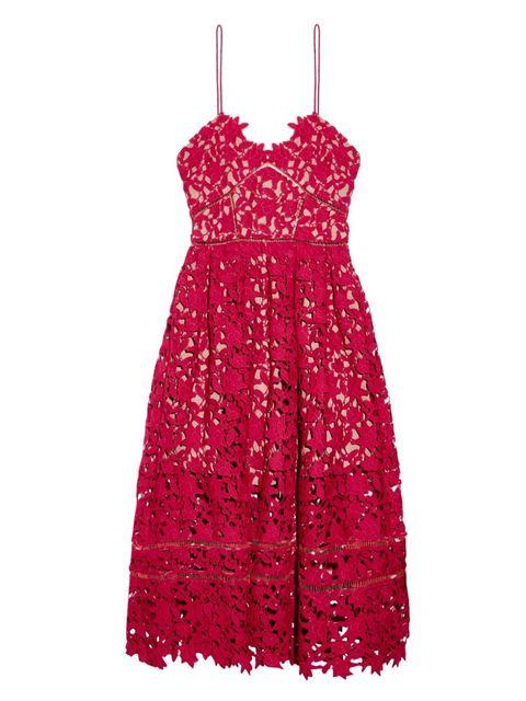 "Self-Portrait Azaelea Floral-Lace Midi Dress, $341; <a href=""http://www.matchesfashion.com/us/products/Self-portrait-Azaelea-floral-lace-midi-dress-1024769"">matchesfashion.com</a>"