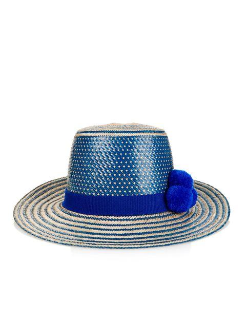 "Yosuzi Irunu Straw Hat, $225; <a target=""_blank"" href=""http://www.matchesfashion.com/us/products/Yosuzi-Irunu-straw-hat--1031429"">matchesfashion.com</a>"