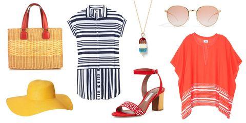 Product, Red, White, Collar, High heels, Sandal, Carmine, Fashion, Basic pump, Neck,
