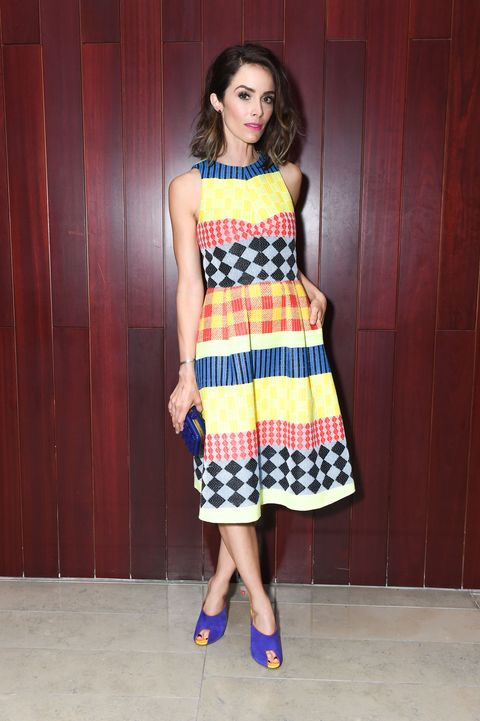 Clothing, Shoulder, Dress, Textile, Joint, One-piece garment, Style, Floor, Pattern, Street fashion,