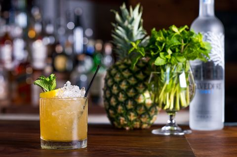 Vibrant and refreshing, this fruit-based cocktail is on the sweeter side without feeling remotely saccharine.