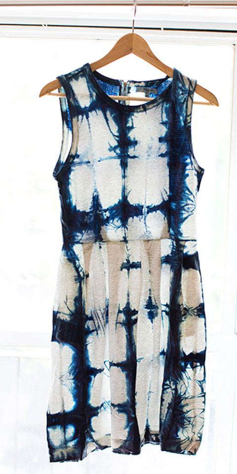 "The Japanese technique of Shibori tie-dye ups the ante of your childhood summer pastime. <a target=""_blank"" href=""http://www.elle.com/fashion/news/a15428/diy-tie-dye-shibori-dress/"">Give a forgotten white dress a total makeover</a>."