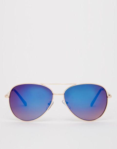 "ASOS Aviator Sunglasses, $22; <a href=""http://us.asos.com/ASOS-Aviator-Sunglasses-With-Blue-Mirror-Lens/14zqho/?iid=4728509&clr=Bluerevo&SearchQuery=mirror+sunglasses&pgesize=36&pge=0&totalstyles=70&gridsize=3&gridrow=6&gridcolumn=2&mporgp=L2Fzb3MvYXNvcy1hdmlhdG9yLXN1bmdsYXNzZXMtd2l0aC1ibHVlLW1pcnJvci1sZW5zL3Byb2Qv"">asos.com</a>"