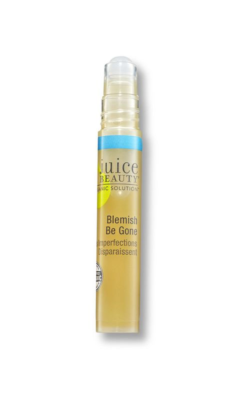 """Panel members praise <a target=""""_blank"""" href=""""http://www.juicebeauty.com/store/blemish-be-gone.html"""">Juice Beauty Blemish Be Gone</a>, an on-the-go zit zapper that targets spots with willow bark–derived salicylic acid and anti-inflammatory aloe."""