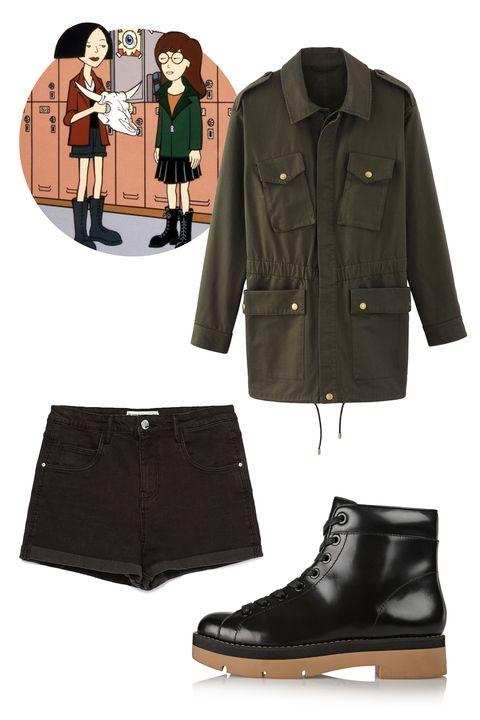 "A.P.C. Wild Parker, $495; <a href=""http://usonline.apc.fr/women/clothing/coats-parka/wild-parka-coawm-f30036#Military khaki&amp;22"">apc.fr</a>  Zara High Waist Shorts, $26; <a href=""http://www.zara.com/us/en/collection-aw15/woman/shorts/high-waist-shorts-c733903p2774267.html"">zara.com</a>  Alexander Wang Genevieve Patent Leather Ankle Boots, $595; <a href=""http://www.net-a-porter.com/us/en/product/568288"">net-a-porter.com</a>"
