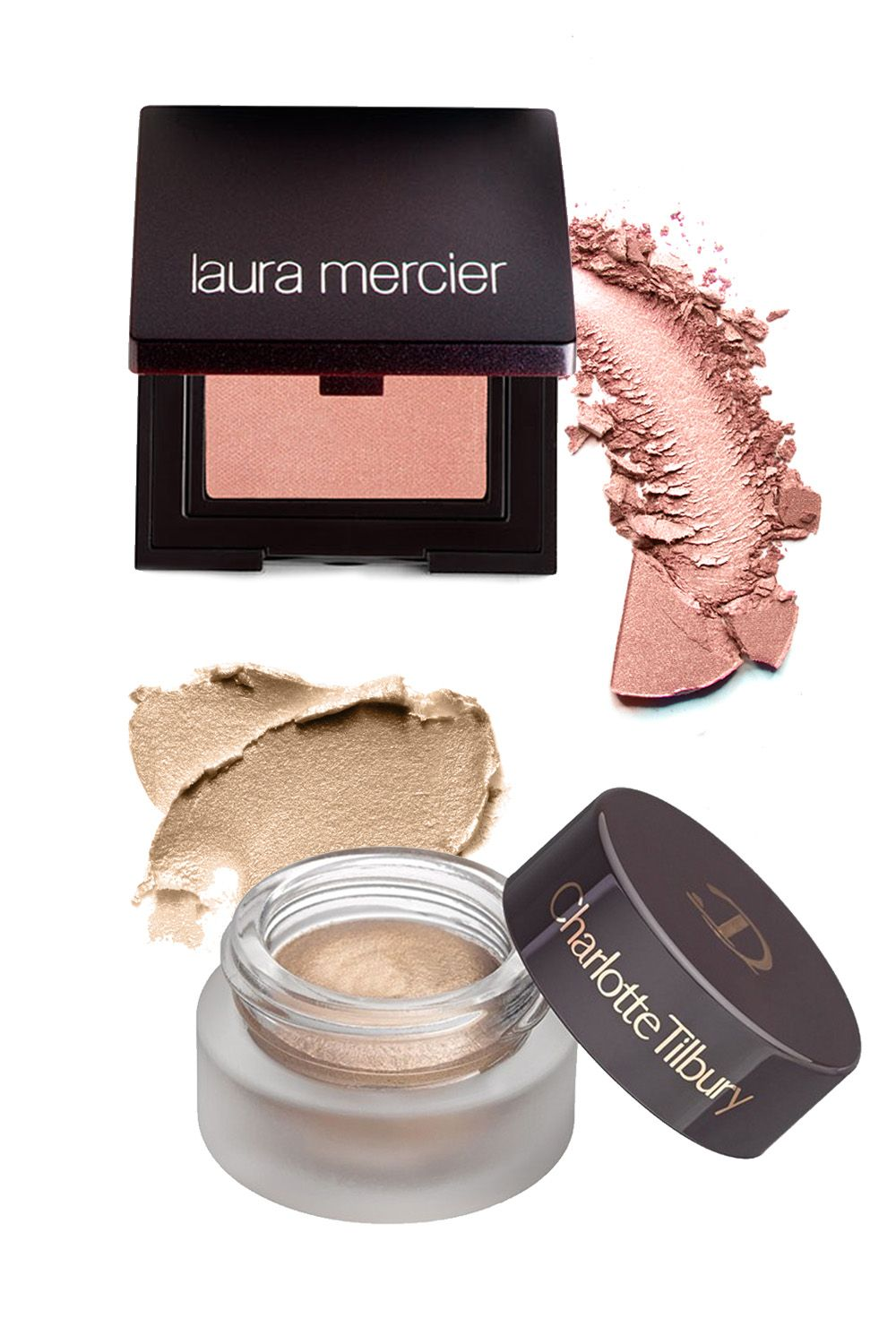 "Laura Mercier Sateen Eye Colour in Primrose, $24; <a target=""_blank"" href=""http://shop.nordstrom.com/s/laura-mercier-sateen-eye-colour/2789466?origin=category-personalizedsort&contextualcategoryid=0&fashionColor=&resultback=7029"">Nordstrom.com</a>  Charlotte Tilbury Eyes to Mesmerise Cream Eyeshadow in Marie Antoinette, $32; <a target=""_blank"" href=""http://shop.nordstrom.com/s/charlotte-tilbury-eyes-to-mesmerise-cream-eyeshadow/4056427?origin=category-personalizedsort&contextualcategoryid=0&fashionColor=Jean&resultback=0"">Nordstrom.com</a>"