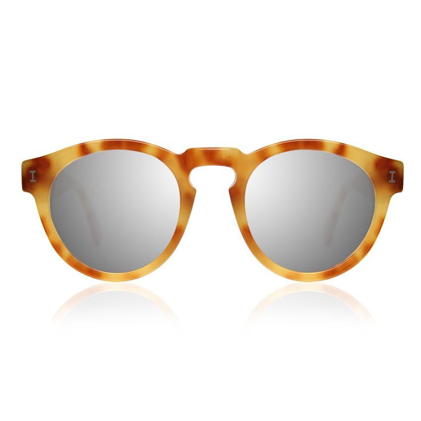 "Illesteva Leonard Sunglasses, $177; <a href=""http://illesteva.com/shop/leonard-amber-with-silver-mirrored-lenses-2/"">illesteva.com</a>"