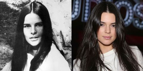Ali MacGraw (1969) and Kendall Jenner