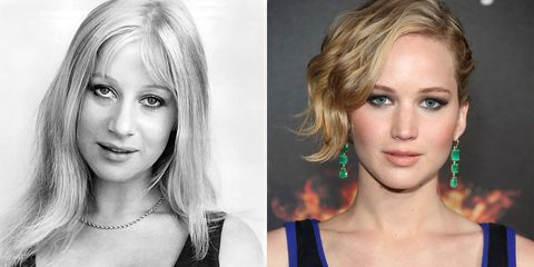Helen Mirren (1970) and Jennifer Lawrence