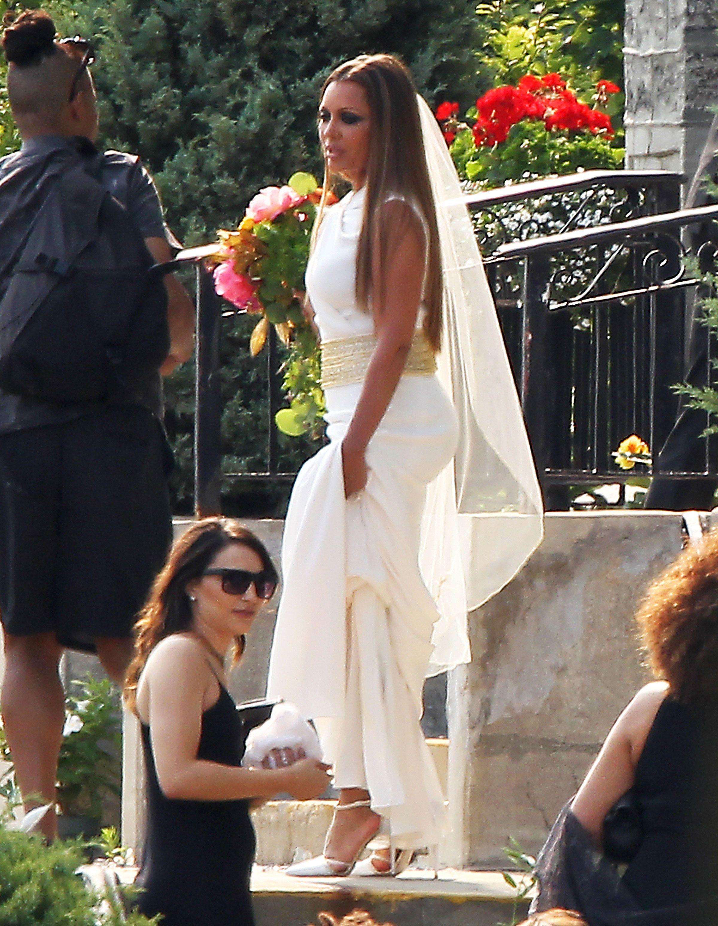 Celeb wedding dresses pictures