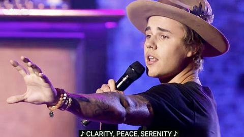 """Justin Bieber Does a Heartfelt Rendition of """"Big Girls Don't Cry"""""""