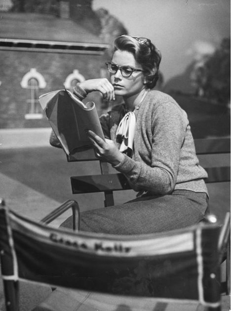 <p>Studying the script for <em>The Country Girl</em> on the movie set on April 1, 1950.</p>