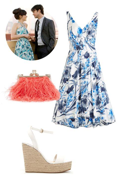 "<p>Eva Franco Broaden Your Fleur-izons Dress, $195; <a href=""http://www.modcloth.com/shop/dresses/broaden-your-fleur-izons-dress"">modcloth.com</a></p><p>Forever 21 Espadrille Wedge Sandals, $33; <a href=""http://www.forever21.com/Product/Product.aspx?BR=f21&Category=shoes_wedges&ProductID=2000052150&VariantID="">forever21.com</a></p><p>Kate Spade Madison Flamingo Clasp Clutch, $428; <a href=""https://www.katespade.com/madison-flamingo-clasp-clutch/PXRU5854,en_US,pd.html?dwvar_PXRU5854_color=958&cgid=ks-handbags-view-all#start=95&cgid=ks-handbags-view-all"">katespade.com</a></p>"