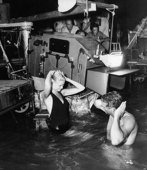 <p>Filming <em>To Catch a Thief</em> in 1955.</p>