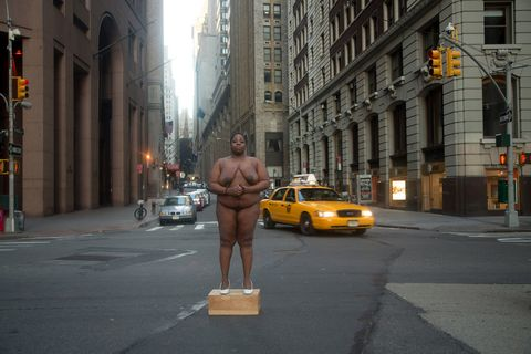 Why This Artist Let Her Nude Body Tell The Story of Slave Trading in New York City