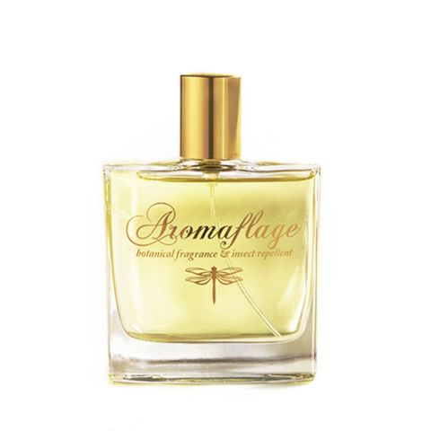 """<p>Aromaflage Botanical Fragrance and Insect Repellent, $65; <a href=""""http://www.aromaflage.com/collections/all/products/aromaflage-botanical-fragrance-insect-repellent"""">aromaflage.com</a></p><p>Aside from its dainty dragonfly emblem, you'd never know this chic perfume is bug-related—especially after getting a whiff of its sweet and summery blend of vanilla, citrus, and cedarwood. But those very essential oils are what keep the mosquitoes away, mimicking a practice that's been the norm in tropical climes like Southeast Asia for centuries. A modern-day bonus? This formula also comes in <a href=""""http://www.aromaflage.com/collections/all/products/aromaflage-candle-pre-orders-your-now-for-june-delivery"""">candle form</a>, which turns into a wine glass after the wax has burned away.</p>"""