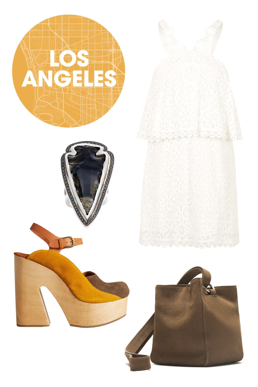 "<p class=""MsoNormal"">Topshop Dream Catcher Overlay Dress, $135; <a href=""http://us.topshop.com/en/tsus/product/clothing-70483/dresses-70497/dream-catcher-overlay-dress-4504284?bi=1&ps=200"">topshop.com</a></p><p class=""MsoNormal"">Rachel Comey Alton Clogs, $575; <a href=""http://www.anthropologie.com/anthro/product/shoes/35319193.jsp#/"">anthropologie.com</a></p><p class=""MsoNormal"">Zara Leather Bucket Bag, $100; <a href=""http://www.zara.com/us/en/collection-aw15/woman/bags/leather-bucket-bag-c269200p2773440.html"">zara.com</a></p><p class=""MsoNormal"">Pamela Love Arrowhead Ring, $2,825; <a href=""http://www.barneys.com/pamela-love-arrowhead-ring-00505034648285.html"">barneys.com</a></p>"