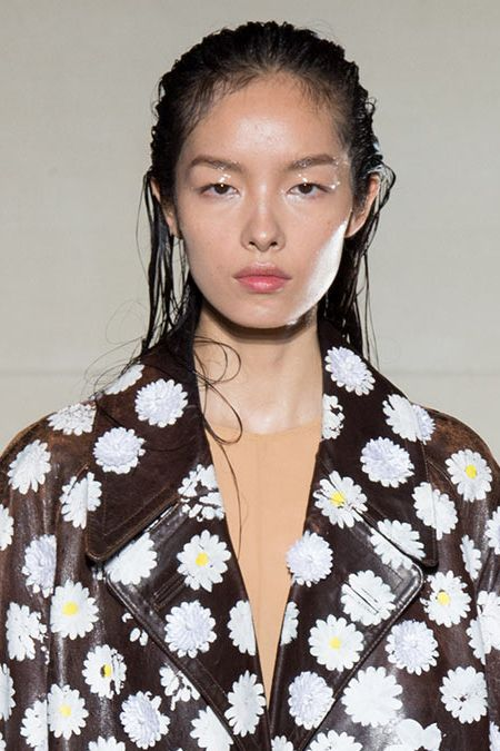 <p>There appears to have been a summer storm on the runway at Maison Margiela. Fei Fei Sun is unbothered. </p>