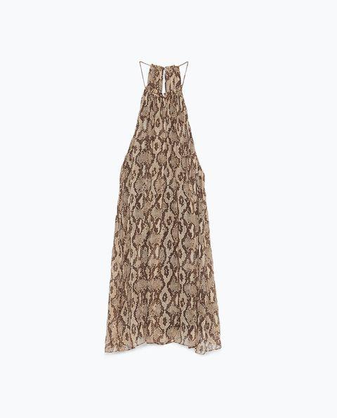 """<p class=""""MsoNormal"""">Zara Halter Neck Dress, $100; <a href=""""http://www.zara.com/us/en/woman/dresses/halter-neck-dress-c269185p2837562.html"""">zara.com</a></p>"""