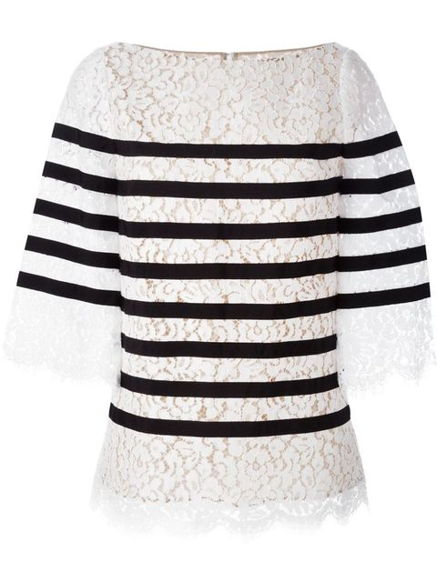 "<p class=""MsoNormal"">Michael Kors Striped Lace Blouse, $1747; <a href=""http://www.farfetch.com/shopping/women/michael-kors-striped-lace-blouse-item-11080019.aspx?storeid=9541&ffref=lp_354_1_"">farfetch.com</a></p>"