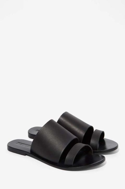 "<p>Sol Sana Betty Leather Slide Sandal $88; <a href=""http://www.nastygal.com/shoes_sandals/sol-sana-betty-leather-slide-sandal"" target=""_blank"">nastygal.com</a></p><p class=""MsoNormal""><o:p></o:p></p>"