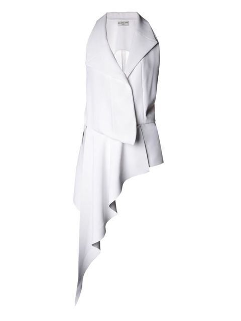 "<p>Balenciaga Waterfall-Draped Sleeveless Top, $1,715; <a href=""http://www.matchesfashion.com/us/products/Balenciaga-Waterfall-draped-sleeveless-top-1013299"">matchesfashion.com</a></p>"