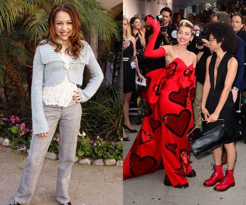 """<p><em>Then: </em>At a <em>Hannah Montana </em><span class=""""redactor-invisible-space"""">Meet the Press event on January 10, 2006</span></p><p><em>Now:</em> At the<em> </em>2015 amfAR Inspiration Gala<em></em></p>"""
