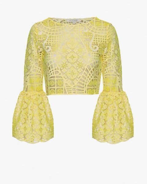 "<p class=""MsoNormal"">Alexis Bell Sleeve Lace Crop Top, $298; <a href=""http://www.intermixonline.com/product/alexis+bell+sleeve+lace+crop+top.do?sortby=ourPicks&from=fn&"">intermixonline.com</a></p>"