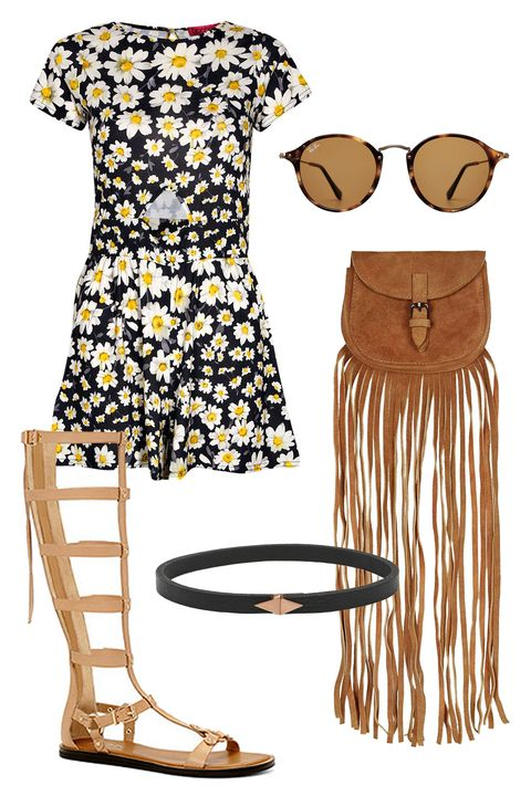 "<p>Concert dates are all about accessories. Chokers, fringe bags, gladiator sandals, and of course, a round pair of sunnies are must-haves for the occasion. Instead of the standard denim shorts and T-shirt, find a playful patterned romper that lets you show off your moves. </p><p>Boohoo Savannah Capped Sleeve Daisy Print Playsuit, $20; <a href=""http://www.boohoo.com/playsuits+jumpsuits/savannah-capped-sleeve-daisy-print-playsuit/invt/azz35119"">boohoo.com</a></p><p>Ray-Ban Round Fleck Sunglasses, $175; <a href=""http://rstyle.me/n/75htcbc6jf"">stylebop.com</a></p><p>Topshop Mini Suede Fringe Bag, $58; <a href=""http://rstyle.me/n/75hu3bc6jf"">topshop.com</a></p><p>Aldo Leola Sandal, $120; <a href=""http://www.aldoshoes.com/us/en_US/p/38686482-32"">aldo.com</a></p><p>Wendy Nichol Textured-Leather and 14-Karat Rose Gold Choker, $1,245; <a href=""http://rstyle.me/n/3sbj8bc6jf"">net-a-porter.com</a></p>"