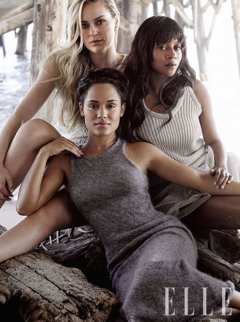 """<p><strong>Lindsey Vonn, Skier</strong></p><p class=""""p1"""">""""I started thinking about the Olympics when I was nine. My mom said I used to do paintings and sign my name, """"The Greatest Skier of All Time.""""</p><p class=""""p1""""><strong>Grace Gealey, Actress, <i>Empire</i></strong></p><p class=""""p1"""">""""This has been my year of self-realization. I started paying attention to what my mind, my body, my spirit were telling me about my life, personality and careerwise."""" </p><p class=""""p1""""> <strong>Camilla Blackett, TV Writer, <i>Fresh Off the Boat</i></strong></p><p>""""Working with women you just get so much shit done—the lack of ego and posturing. It is a much more supportive room.""""  </p><p><em>Vonn wears: Leather fringe dress, <a href=""""https://www.elietahari.com/women/dresses/"""">ELIE TAHARI</a>, $1,498. Gealey wears: Mohair dress, <a href=""""http://www.michaelkors.com/women/michael-kors-collection-clothing/dresses/_/N-28ev"""">MICHAEL KORS COLLECTION</a>, $695. Blackett wears: Cashmere knit and tulle dress, <a href=""""http://boutique.brunellocucinelli.com/us/women/dresses/secondary"""">BRUNELLO CUCINELLI</a>, $2,745.</em><br></p>"""