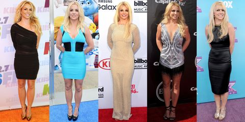 <p>The Britney requires feet firmly planted next to each other, arms clasped behind the back, a toothy grin and vacant eyes. </p>