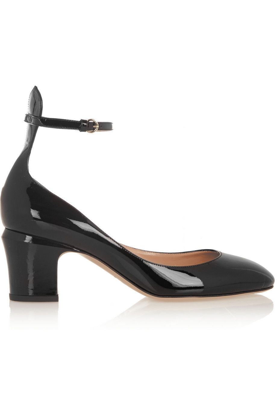 """<p>""""Valentino's Tan-Go patent-leather Mary Jane pumps were a game changer for me. They're so scooped out at the sides and the toe that they look sexy but the low 2 1/2 inch heel means they're incredibly comfortable and practical for walking in all day. I get complements about these All. The. Time.""""<span></span></p><p>Valentino Tan-Go Patent-Leather Mary Jane Pumps, $895; <a href=""""http://rstyle.me/n/8tehxbc6jf"""">net-a-porter.com</a><br></p>"""