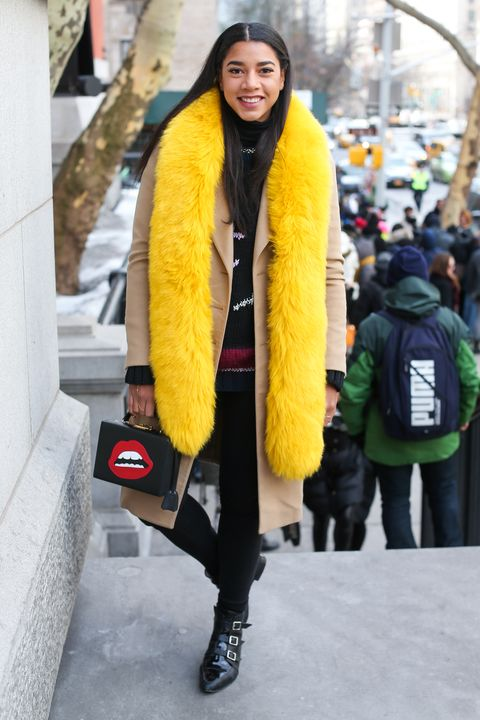 Winter, Jacket, Textile, Outerwear, Bag, Street fashion, Fur clothing, Fashion, Natural material, Animal product,