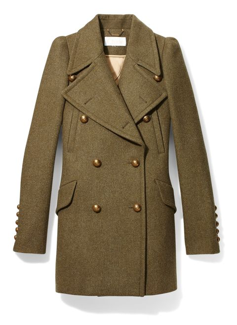 "<p>""Worn undone, it's superfeminine"" <em>Chine felted wool coat, CHLOÉ, $2,795, collection at Barneys New York</em></p>"