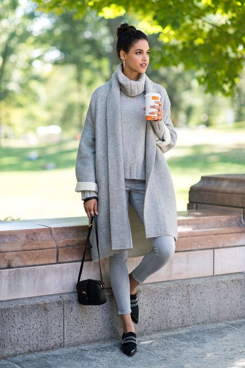 "<p>The simplest way to streamline any outfit is to go monochromatic (save for your shoes and purse). A blousy overcoat, a chunky knit sweater, and a pair of skinny jeans look infinitely richer when they're all in a gorgeous gray palette.</p><p><em>Nili Lotan Wrap Kimono Coat, $895, <a href=""http://www.nililotan.com/jackets/wrap-kimono-coat-6925.html"" target=""_blank"">nililotan.com</a>; Nili Lotan Turtleneck Sweater, $495, <a href=""http://www.nililotan.com/sweaters/turtleneck-sweater-6716.html"" target=""_blank"">nililotan</a>; Old Navy Mid-Rise Rockstar Skinny Jeans, $30, <a href=""http://oldnavy.gap.com/browse/product.do?cid=85732&vid=1&pid=602458002"" target=""_blank"">oldnavy.com</a>; Old Navy Buckle-Strap Crossbody Purse, $18, <a href=""http://oldnavy.gap.com/browse/product.do?cid=7374&vid=1&pid=596245002"" target=""_blank"">oldnavy.com</a>; Belle by Sigerson Morrison Flats, $275, <a href=""https://www.shopbop.com/vae-studded-flats-belle-by/vp/v=1/1572635639.htm?currencyCode=USD&extid=SE_froogle_SC_usa&cvosrc=cse.google.BELLE40263&cvo_campaign=SB_Google_USD&s_kwcid=AL!3510!3!%7Bcreative%7D!%7Bmatchtype%7D!%7Bplacement%7D!%7Bnetwork%7D!!%7Bkeyword%7D&ef_id=VbJUWwAABHod@@cl:20150903143817:s"" target=""_blank"">shopbop.com</a>; Graziela Gems Curve Ear Cuffs in White, $190, <a href=""http://www.grazielagems.com/Curve-Ear-Cuffs-in-White-p787.html"" target=""_blank"">grazielagems.com</a>; Pave Classica EFFY 14K White Gold Earrings, $7,808, <a href=""http://www.effyjewelry.com"" target=""_blank"">effyjewelry.com</a>; Pave Classica 14K EFFY White Gold Diamond Ring, $4,455, <a href=""http://www.effyjewelry.com"" target=""_blank"">effyjewelry.com</a>; D'Oro EFFY 14K Yellow Gold Diamond Ring, $4,275, <span class=""s1""><a href=""http://www.effyjewelry.com/"" target=""_blank"">effyjewelry.com</a></span>.</em> </p><p><em></em></p><p><em></em></p>"