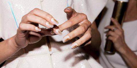 Finger, Hand, Nail, Thumb, Wrist, Gesture, Nail care, Cuff,