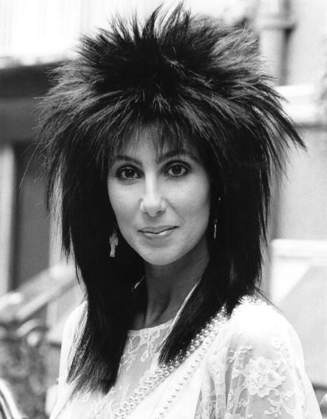 <p>Cher's super-sleek mullet proves that huge hair doesn't have to be curly.</p>