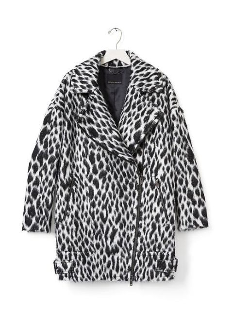 "<p>Banana Republic Spotted Cocoon Coat, $328; <a href=""http://bananarepublic.gap.com/browse/product.do?cid=1027264&vid=1&pid=672231002 "">bananarepublic.gap.com</a> </p>"