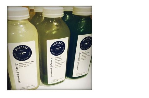 "<p>Kate Young's favorite pick-me-up: ""My good friend's sister's brand, Pressed Juicery.""</p>"