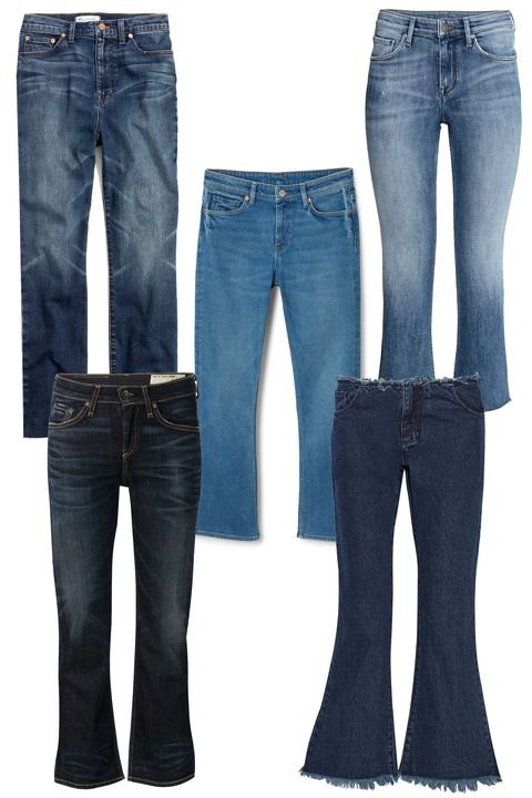 "<p>Madewell 11"" High Riser Crop Flares, $135; <a href=""https://www.madewell.com/newarrivals/denim/PRDOVR~E3384/E3384.jsp?srcCode=MWAFFI00001&siteId=J84DHJLQkR4-Flz3Toq1V6OqC.2RG8OWvQ"">madewell.com</a></p><p class=""MsoNormal"">Weekday Varial Blue, $53; <a href=""http://shop.weekday.com/gb/Womens_shop/Jeans/Cut_varial_blue/542440-3703881.1?image=1328240#c-47958"">weekday.com</a><o:p></o:p></p><p class=""MsoNormal"">H&M Kick Flare Ankle Jeans, $50; <a href=""http://www.hm.com/us/product/19890?article=19890-A&cm_mmc=shopstyle-_-us-_-ladies_jeans_bootcut-_-19890&utm_source=shopstyle&utm_medium=comparison&utm_campaign=us_ladies_jeans_bootcut&utm_content=19890"">hm.com</a><o:p></o:p></p><p class=""MsoNormal"">Rag & Bone/ JEAN Cropped Jeans, $225; <a href=""http://www.farfetch.com/shopping/women/rag-bone-jean-cropped-jeans-item-11099070.aspx?storeid=9134&ffref=lp_23_4_"">farfetch.com</a><o:p></o:p></p><p class=""MsoNormal"">Marques' Almeida Cropped Frayed Low-Rise Flared Jeans, $565; <a href=""http://www.net-a-porter.com/us/en/product/609340"">net-a-porter.com</a></p>"