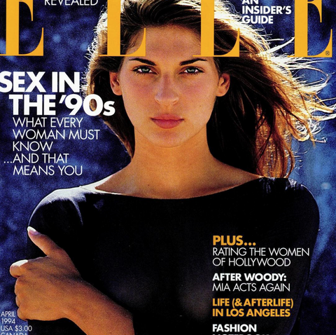 "<p>One more! Happy Anniversary #ELLEat30 by @gilles_bensimon . I love it's that serious face next to ""sex in the 90s""</p>"