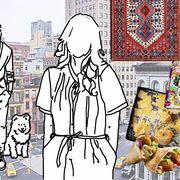 Cuisine, Art, Dish, Illustration, Recipe, Painting, Drawing, Side dish, Fast food, Animation,