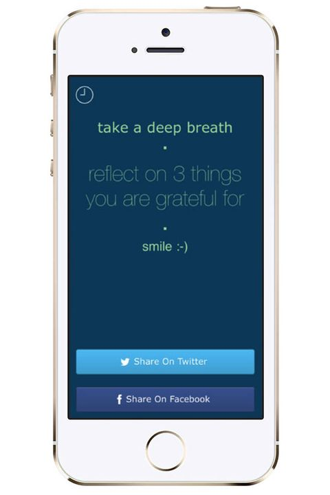 "<p><a href=""https://itunes.apple.com/us/app/7-second-meditatio..."">7 Second Meditation</a>: One of the biggest myths of meditation is that you have to do it for a long time. You don't. Even three minutes can set the perfect tone for your day. This app notifies you to take one deep breath each day with a daily affirmation and smiley face. You're officially out of excuses.</p>"