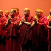 Monk, Temple, Team, Maroon, Guru, Zen master, Lama,