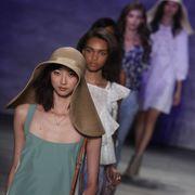 Human, People, Human body, Hat, Purple, Fashion, Youth, Street fashion, Sun hat, Sleeveless shirt,
