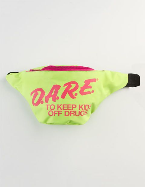 "<p>Extreme '80s DARE Fanny Pack, $20; <a href=""http://www.tillys.com/product/Extreme-80s/Fanny-Packs/EXTREME-80S-DARE-Fanny-Pack/Green/231981500"">tillys.com</a></p>"