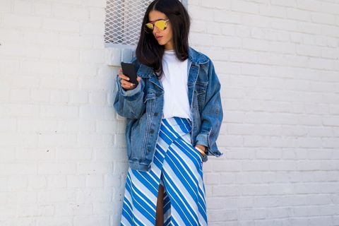 Clothing, Blue, Sleeve, Textile, Style, Street fashion, Jacket, Fashion, Electric blue, Denim,