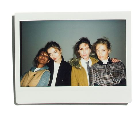 "<p>On set, Andreea Diaconu shared that her first J.Crew piece was a ""striped sailor tee."" Amber Valletta revealed hers was a ""bathing suit in 5th grade.""</p>"