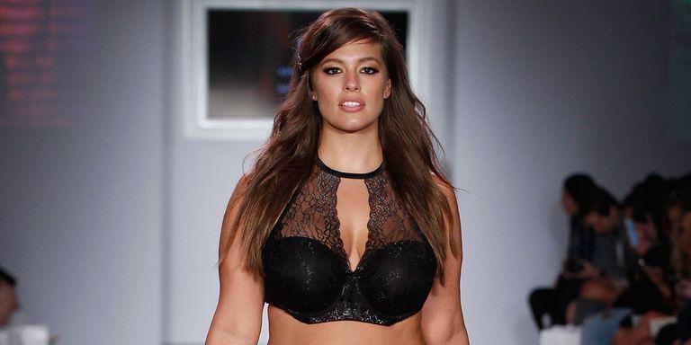 ashley graham plus-size model interview on addition elle lingerie